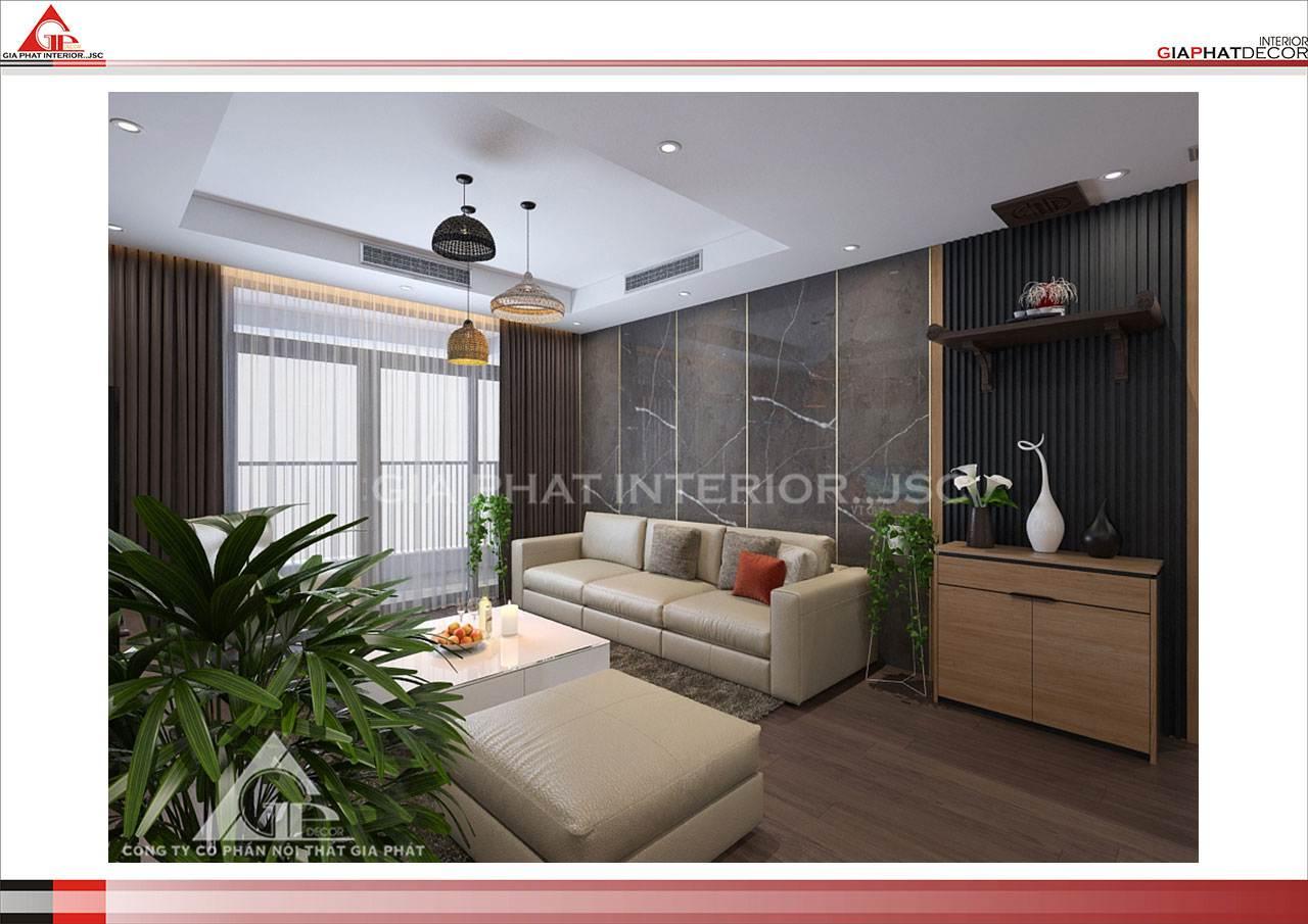 Thiết kế, thi công nội thất chung cư đẹp, hiện đại, cao cấp tại Hà Nội - Phòng khách