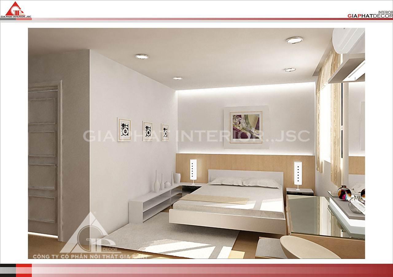 Thiết kế, thi công nội thất chung cư đẹp, hiện đại, cao cấp tại Hà Nội - Phòng ngủ