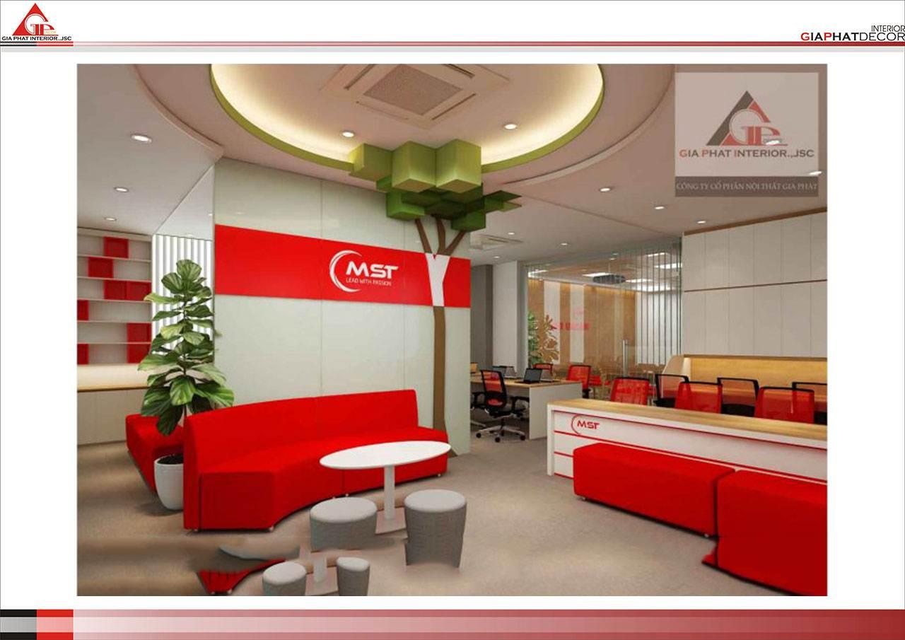 Thiết kế, thi công nội thất văn phòng Trung tâm Ngoại ngữ MST