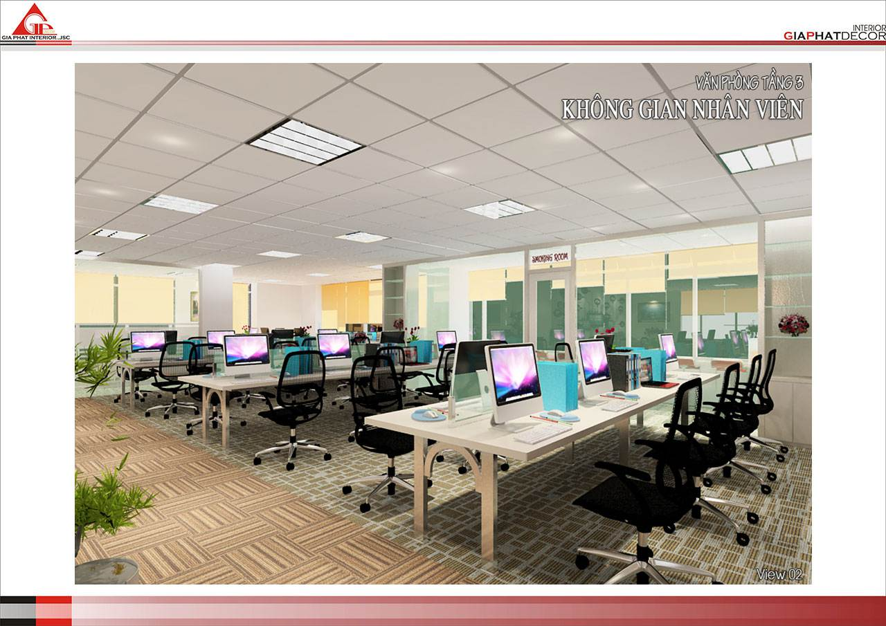 Thiết kế, thi công nội thất văn phòng Tổng công ty INCOM - Hà Nội