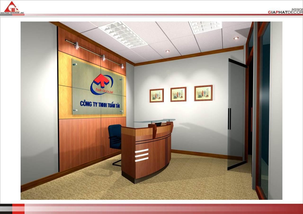 Thiết kế, thi công nội thất văn phòng Công ty Tuấn Tài