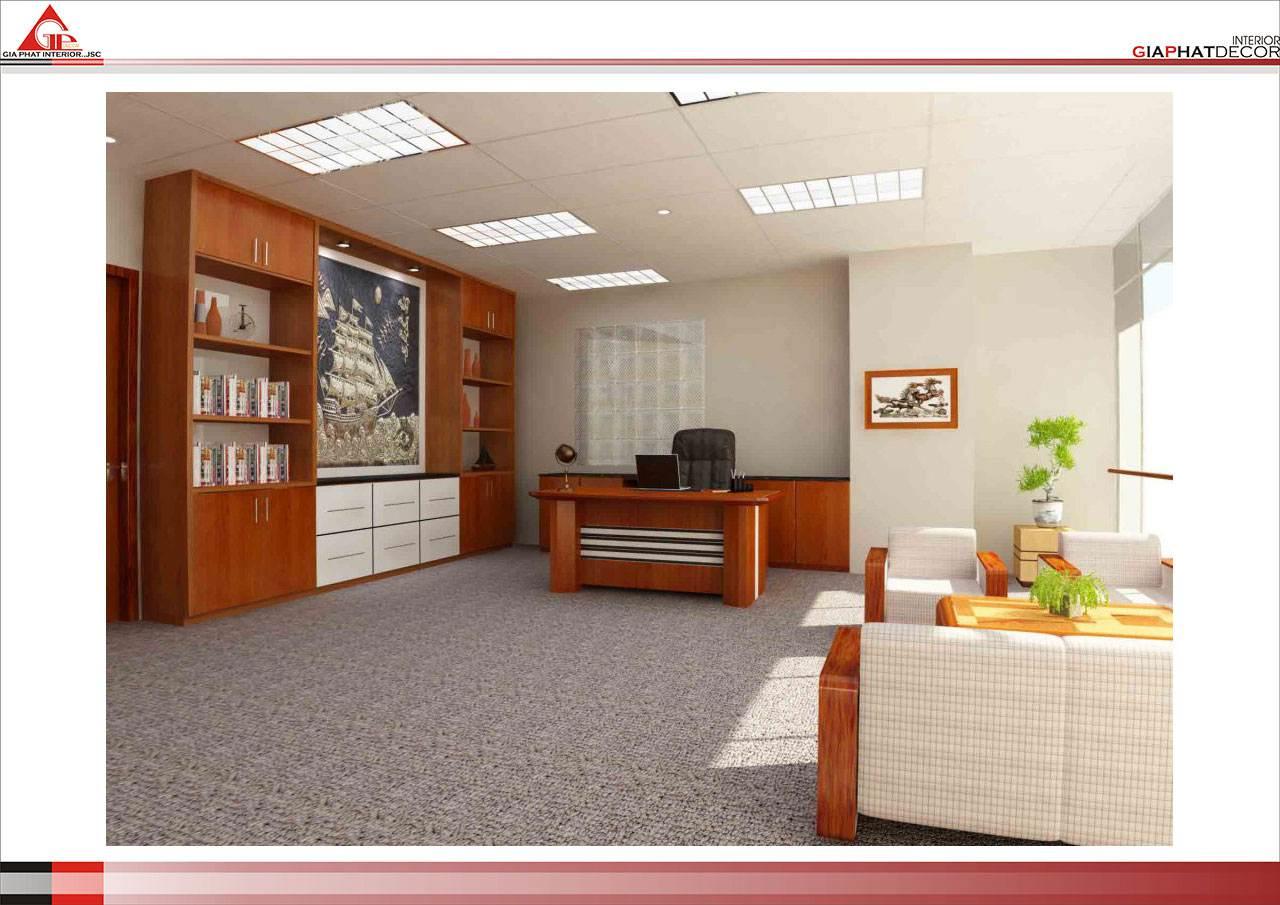 Thiết kế, thi công nội thất văn phòng Tòa nhà 19 Triệu Việt Vương - Hà Nội
