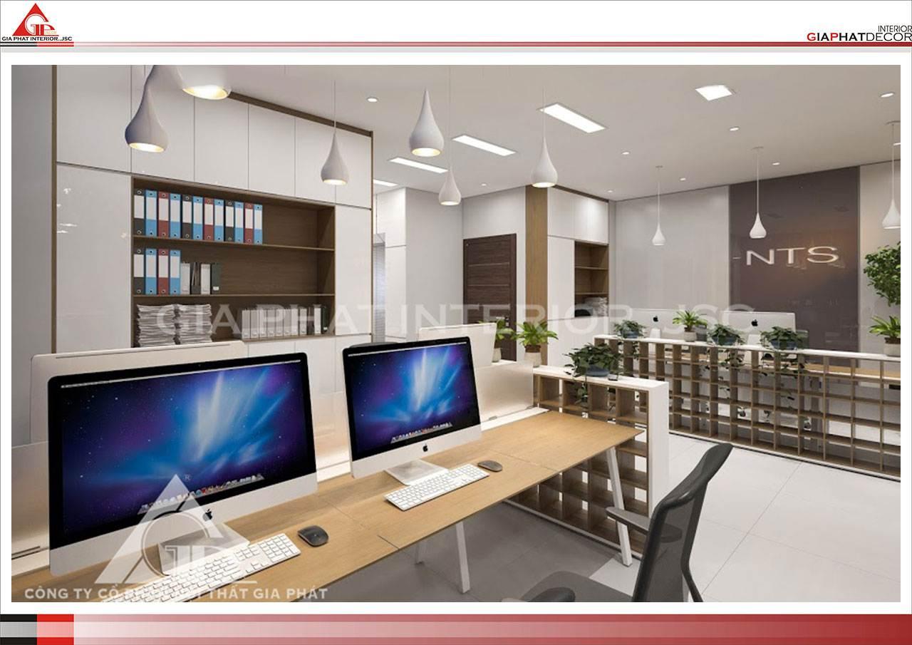 Thiết kế, thi công nội thất văn phòng Mobifone Hà Nội